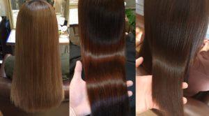 髪質改善した毛髪